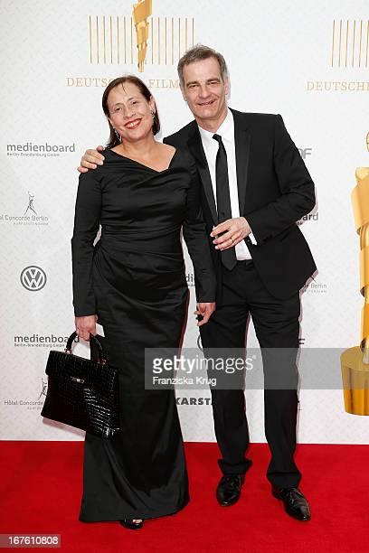 Heinrich Schafmeister and Jutta Schafmeister attend the Lola German Film Award 2013 at Friedrichstadt-Palast on April 26, 2013 in Berlin, Germany.
