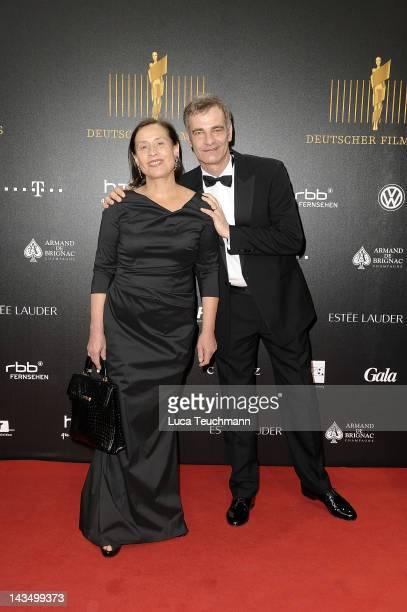 Heinrich Schafmeister and wife Jutta Deutscher attend the Lola - German Film Award 2012 at Friedrichstadt-Palast on April 27, 2012 in Berlin, Germany.