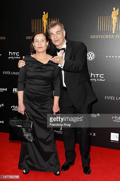 Heinrich Schafmeister, Jutta Deutscher attend the Lola German Film Award 2012 at Friedrichstadtpalast on April 27, 2012 in Berlin, Germany.