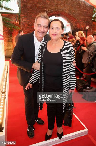 Heinrich Schafmeister with wife Jutta attend the NRW Filmparty at Wolkenburg on June 17, 2014 in Cologne, Germany.