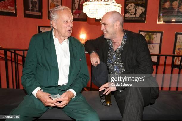 Heinz Baumann and Peter Kremer during the 'Mirandolina' premiere at Komoedie Bayerischer Hof on June 13 2018 in Munich Germany