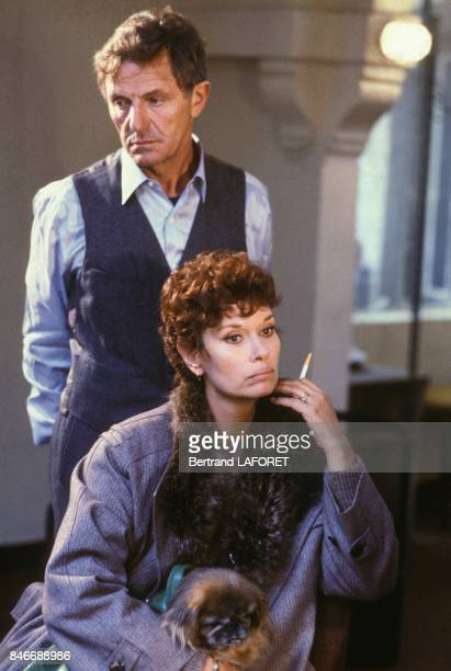 Heinz Bennent et Lea Massari dans le film Sarah de Maurice Dugowson le 22 novembre 1982 en France