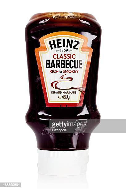 heinz classic barbecue rich and smokey dip and marinade sauce - barbeque sauce stock photos and pictures