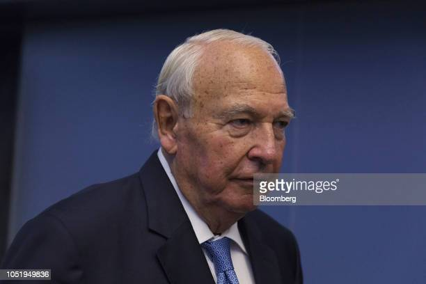 Heinz Hermann Thiele billionaire and majority owner of KnorrBremse AG stands on the trading floor as the company makes its initial public offering at...