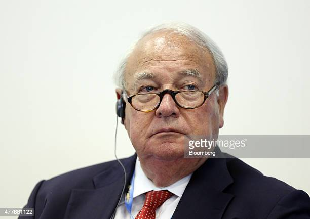 Heinz Hermann Thiele chairman of the supervisory board Vossloh AG pauses during a session at the St Petersburg International Economic Forum in Saint...