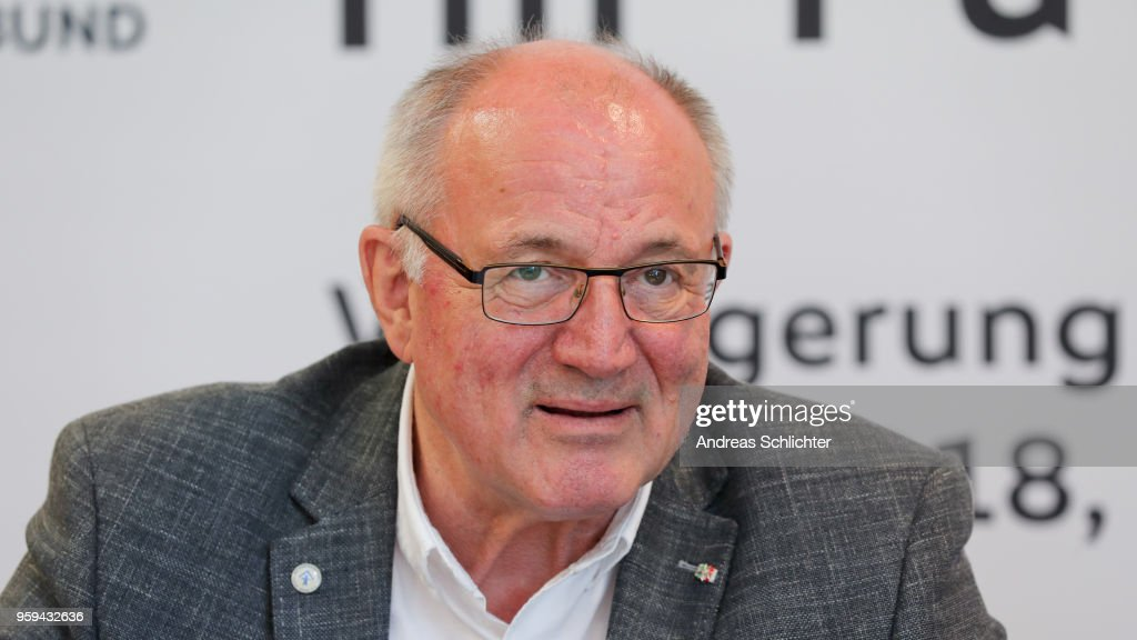 Heinz Hilgers at DFB Headquarter on May 17, 2018 in Frankfurt am Main, Germany.