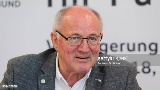 Heinz Hilgers at DFB Headquarter on May 17 2018 in Frankfurt am Main Germany