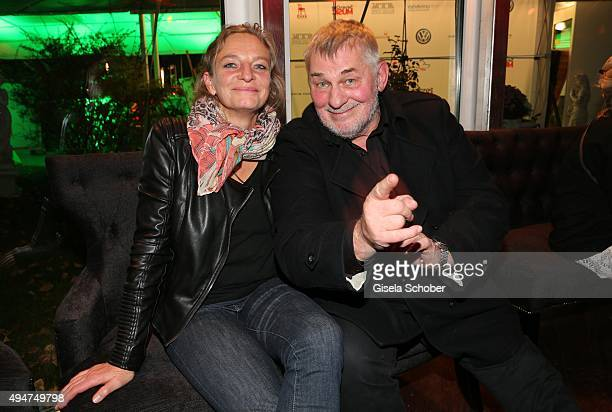 Heinz Hoenig and Gabriele Lechner during the 'Tabaluga - Es lebe die Freundschaft' record release at Das Schloss on October 28, 2015 in Munich,...
