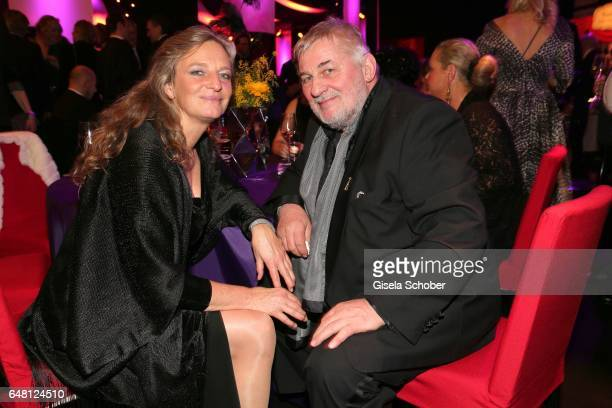 Heinz Hoenig and his girlfriend Gaby Lechner during the Goldene Kamera after show party at Messe Hamburg on March 4 2017 in Hamburg Germany