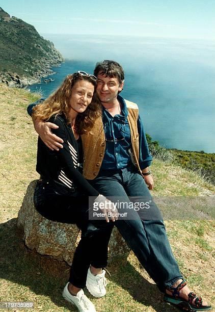 Heinz Hoenig mit Ehefrau Simone, Cape Point, Kap der guten Hoffnung, bei Kapstadt, Südafrika, Afrika, Urlaub, Schauspieler,