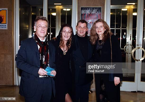 """Heinz Hoenig mit Ehefrau Simone und;Freunden, Gala Premiere von Antonio Gades;""""Carmen"""", Schiller Theater Berlin, Deutschland, Europa,"""