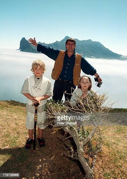 Heinz Hoenig mit Tochter Paula und SohnLukas bei Kapstadt Südafrika Afrika Urlaub