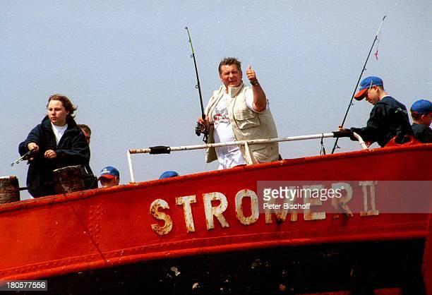 Heinz Hoenig Tochter Paula Hoenig Sohn Lucas Hoenig Royal Fishing Jugendangeln 2001 Heiligenhafen MS Stromer II WettAngeln Angel