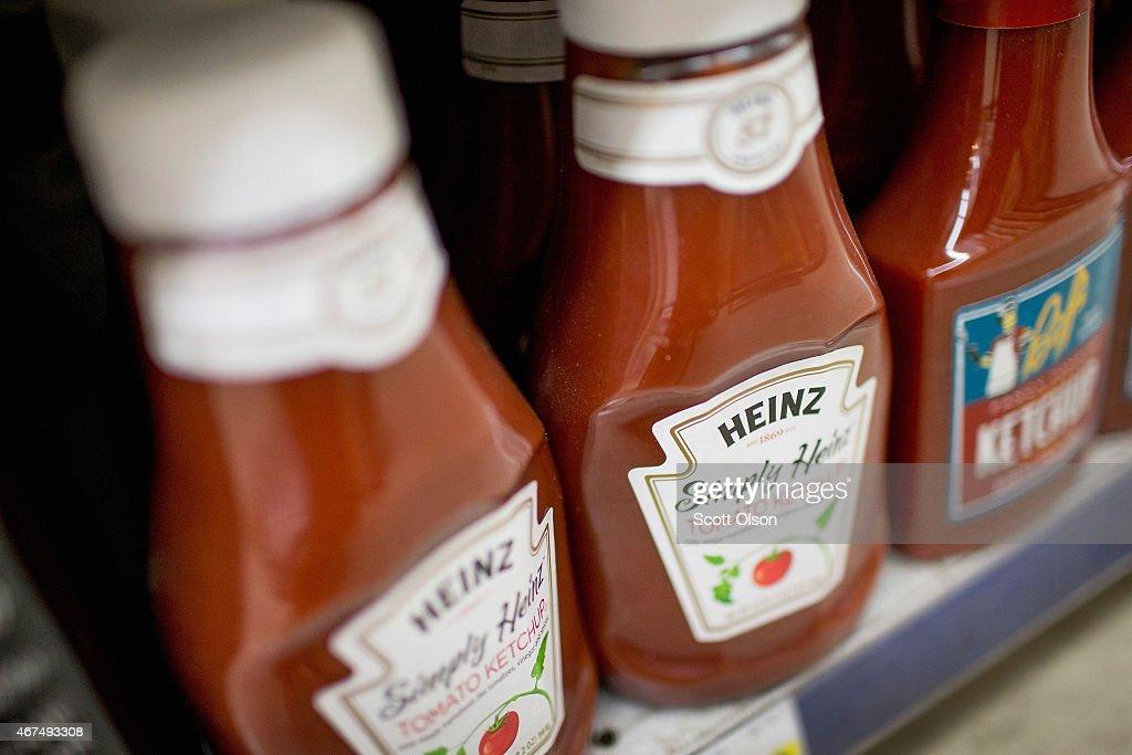 Food Giants Kraft And Heinz To Merge : News Photo