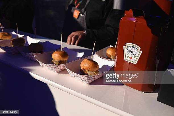 Heinz products available at chef stations durinng the Blue Moon Burger Bash presented by Pat LaFrieda Meats hosted by Rachael Ray Food Network...