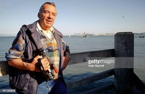 Heinz Schenk Urlaub Neben den Dreharbeiten zur ZDFSerie Wilder Westen inclusive Sausolito/San Francisco/USA/Amerika/Nordarmerika Bay Area Kamera...