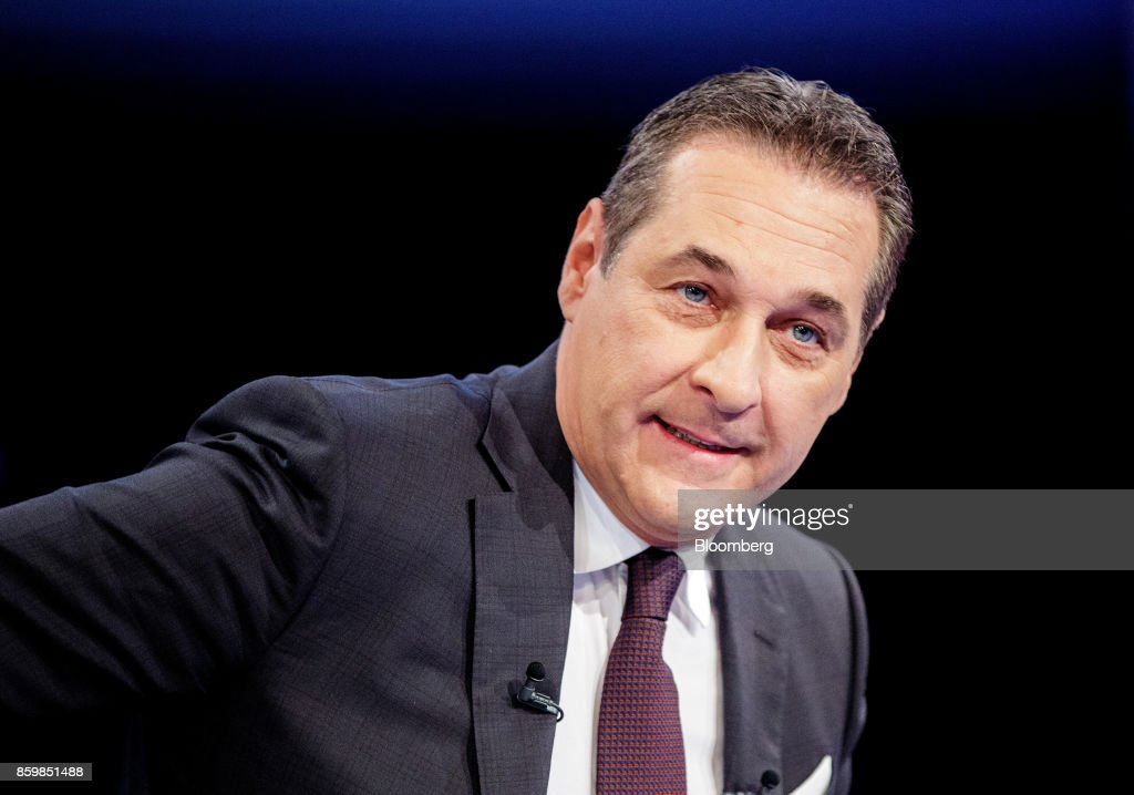 Austria's Foreign Minister Sebastian Kurz And Freedom Party Leader Heinz-Christian Strache Attend A Pre-Election TV Debate