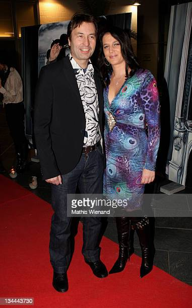 HeinzHarald Frentzen and his wife Tanja attend Mila Wiegand Kai Ebel Vernissage on December 1 2011 in Duesseldorf Germany