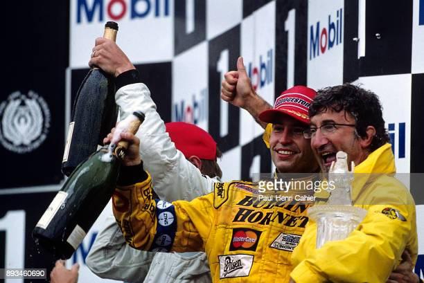 HeinzHarald Frentzen Eddie Jordan Grand Prix of France Circuit de Nevers MagnyCours 27 June 1999 HeinzHarald Frentzen with team owner Eddie Jordan...