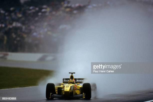 HeinzHarald Frentzen JordanMugenHonda 199 Grand Prix of France Circuit de Nevers MagnyCours 27 June 1999 HeinzHarald Frentzen in the rain on his way...