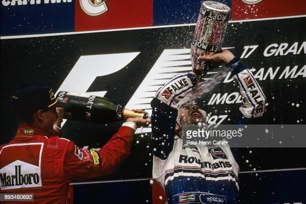 Heinz-Harald Frentzen, Michael Schumacher, Grand Prix of San Marino, Autodromo Enzo e Dino Ferrari, Imola, 27 April 1997. Heinz-Harald Frentzen...