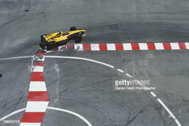 Heinz-Harald Frentzen of Germany drives the Benson & Hedges Jordan Jordan 199 Mugen Honda V10 during the Formula One Monaco Grand Prix on 16 May 1999...
