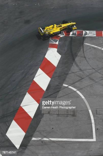 Heinz-Harald Frentzen of Germany drives the Benson & Hedges Jordan Jordan EJ10 Mugen Honda V10 during the Formula One Monaco Grand Prix on 4 June...