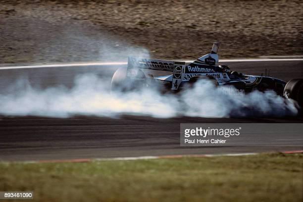 Heinz-Harald Frentzen, Williams-Renault FW19, Grand Prix of Luxembourg, Nurburgring, 28 September 1997. Heinz-Harald Frentzen braking late and...