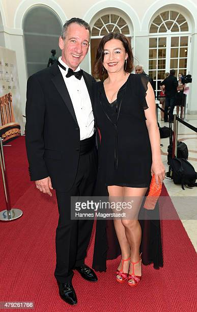 Heio von Stetten and Elisabeth Romano attend the Bernhard Wicki Award 2015 during the Munich Film Festival at Cuvilles Theatre on July 2 2015 in...