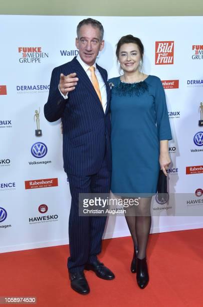 Heio von Stetten and Elisabeth Romano attend the 'Goldene Bild der Frau' award at Stage Operettenhaus on November 7 2018 in Hamburg Germany