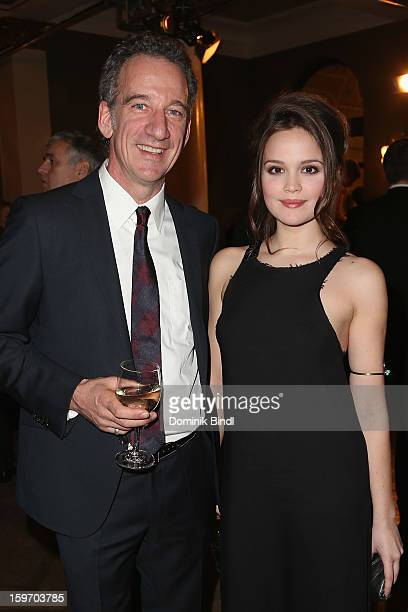 Heio von Stetten and Emilia Schuele attend the Bavarian Movie Awards 2013 after party on January 18 2013 in Munich Germany