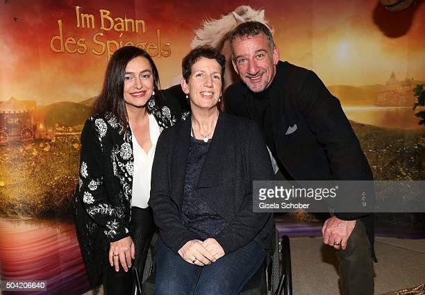 Heio von Stetten and his sister Mechtild von Stetten and his wife Elisabeth Romano during the 'APASSIONATA Im Bann des Spiegels' VIP reception at...