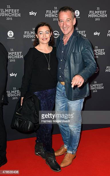 Heio von Stetten and his wife Elisabeth Romano attend the Opening Night of the Munich Film Festival 2015 at Mathaeser Filmpalast on June 25 2015 in...