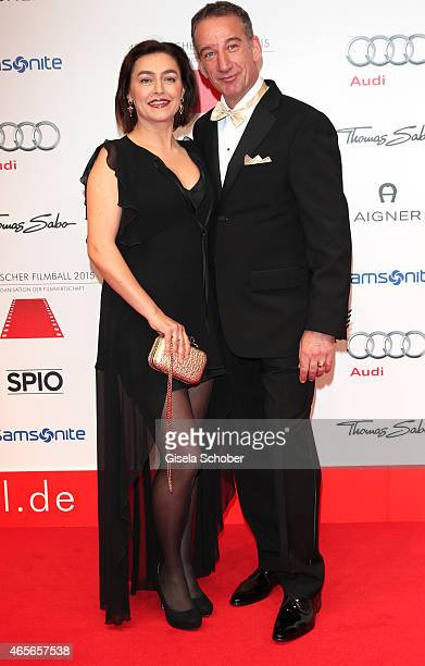 Heio von Stetten and his wife Elisabeth Romano during the German Filmball 2015 at Hotel Bayerischer Hof on January 17 2015 in Munich Germany