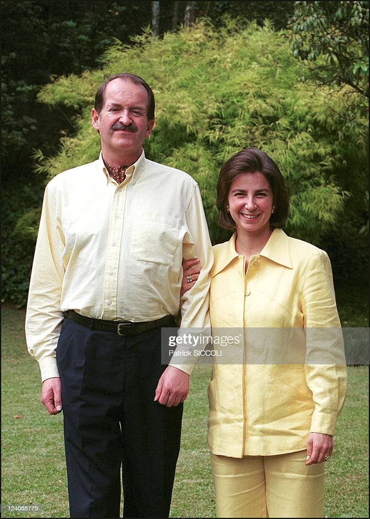 Heir To The Portuguese Throne Dom Duarte The Duke Of Bragance With His Wife Dona Isabel In Sao Paulo, Brazil On December 16, 2000. : News Photo
