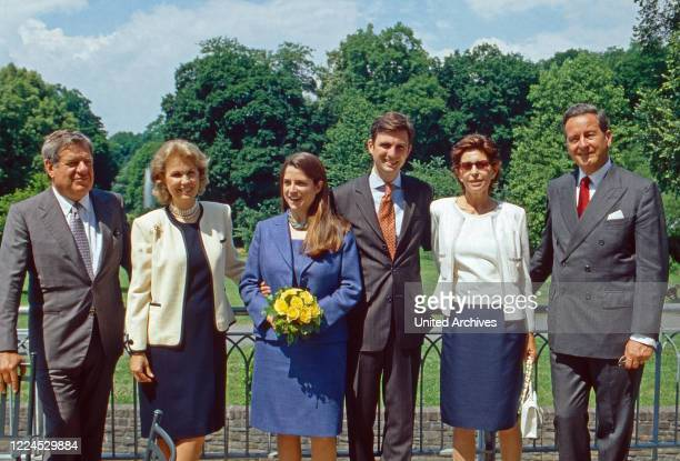 Heir to throne Heinrich zu Sayn Wittgenstein Sayn and his wife Donna Priscilla Incisa della Rochetta and their parents at Sayn Germany 2002