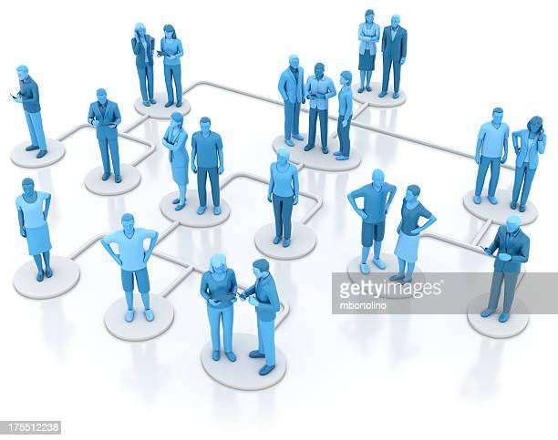 Heirarchical organisation chart - blue