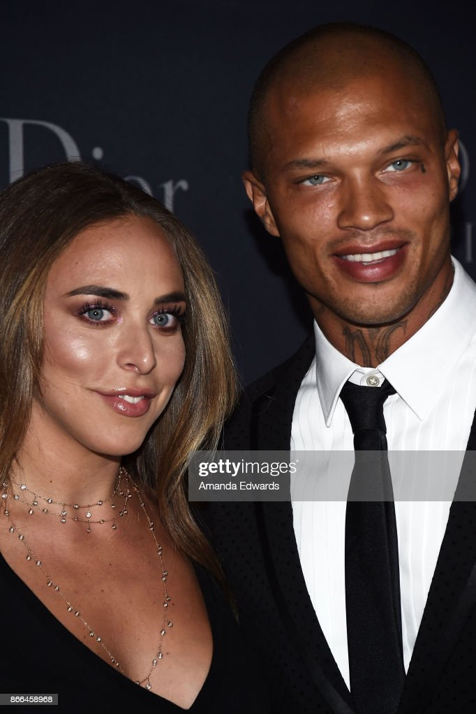 Heiress Chloe Green (L) and model Jeremy Meeks arrive at the 2017 Princess Grace Awards Gala at The Beverly Hilton Hotel on October 25, 2017 in Beverly Hills, California.