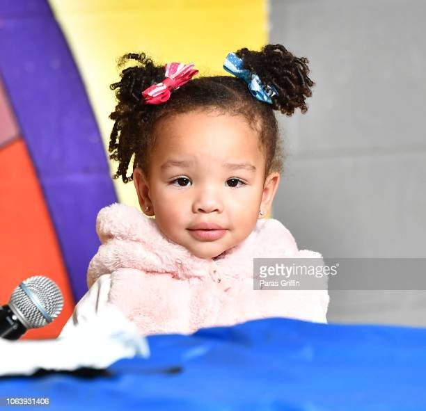 Heiress Diana Harris attends T.I. 13th Annual Thanksgiving Turkey Giveaway at Adamsville Recreation Center on November 20, 2018 in Atlanta, Georgia.