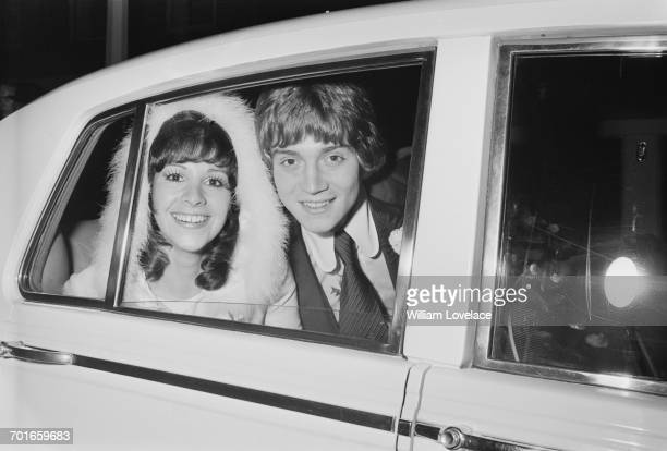 Heiress Georgina Simpson marries actor Anthony Andrews at Chelsea Old Church London 1st December 1971 Georgina is part of the Simpsons of Piccadilly...