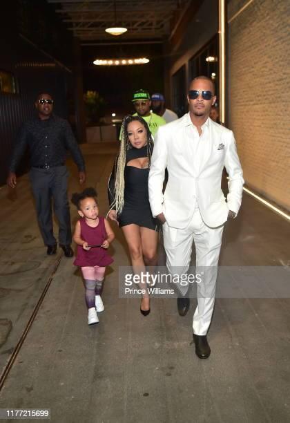 Heiress Harris, Tameka Harris and T.I. Attend A Private Birthday Celebration Honoring TIP at The Brasserie Atlanta on September 25, 2019 in Atlanta,...