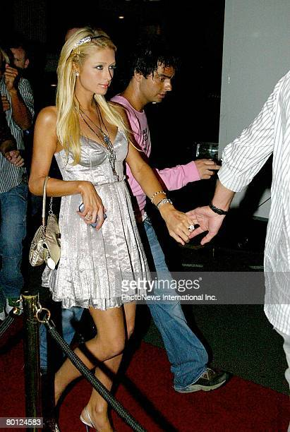 Heiress Paris Hilton and boyfriend Stavros Niarchos III are seen in Darlinghurst on New Year's Day on January 01 2007 in Sydney Australia