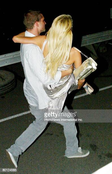 Heiress Paris Hilton and boyfriend Stavros Niarchos III in Darlinghurst on New Years Day on January 01 2007 in Sydney Australia