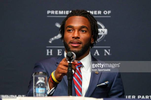 Heisman Trophy Finalist Stanford University running back Bryce Love during the Heisman Trophy Finalists Press Conference on December 9 at the...