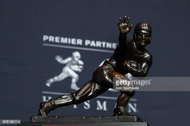 Heisman Trophy winner University of Louisville quarterback Lamar Jackson Heisman Trophy on display winning the 81st Annual Heisman Trophy press...