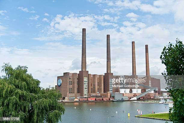 Heizkraftwerk Wolfsburg Nord/Sued cogeneration plant Wolfsburg is part of Volkswagen AG Plant next to Mittellandkanal or on August 09 2016 in...