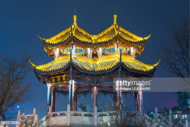 HeJiang pavilionat night in Chengdu