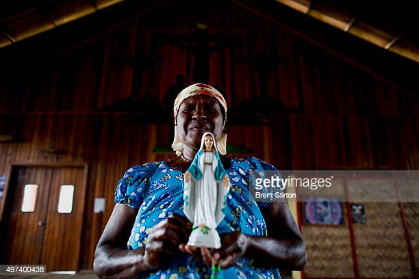 Hela Huli Christian women photographed at a Catholic Church Tari Gap Papua New Guinea 17 December 2008 These women are supporters of the Catholic...