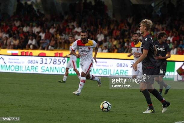 Helander Filip during soccer match between Benevento Calcio and Bologna FC at Stadio Comunale Ciro Vigorito in Benevento Final result Benevento...