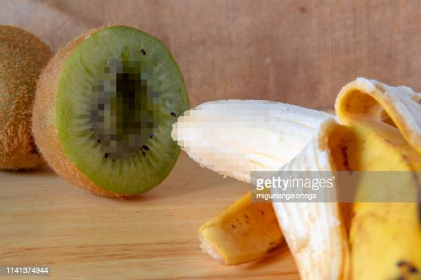 helathy food, healthy life: fruits with humor - female reproductive system stock photos and pictures